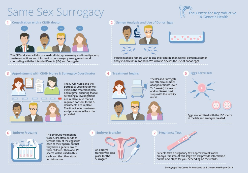 CRGH Same Sex Surrogacy infographic